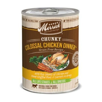 Merrick Pet Food MP28292 Chunky - Colossal Chicken Dinner 12 By 12.7 Oz.