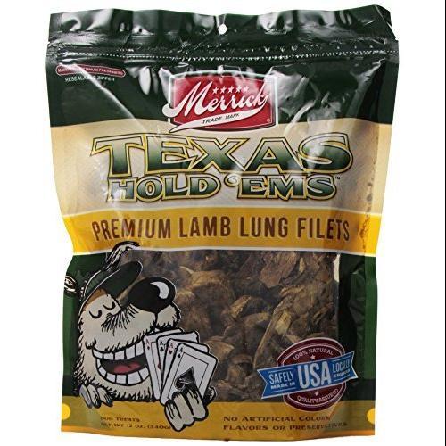 Merrick Pet Care Merrick Texas Hold 'Ems Lamb Lung Filets Dog Treats 12-oz bag