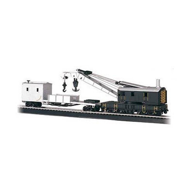 Bachmann HO Scale Train Steam Crane Painted, Unlettered 16149