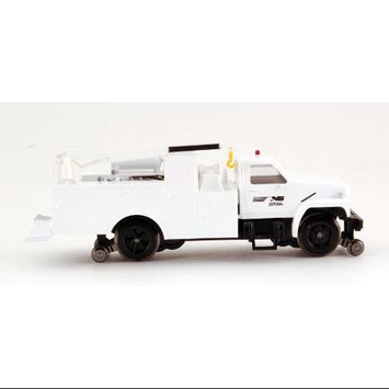 Bachmann HO Scale Train Maintenance Vehicle DCC Equipped Truck with Work Crane - N & S (white) 16902