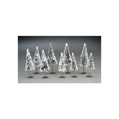 Bachmann BAC32102 N 3 in- 4 in. Pine Trees with Snow - 9
