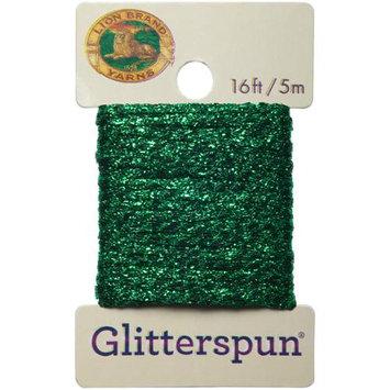 Lion Brand Yarn Company Glitterspun-Emerald