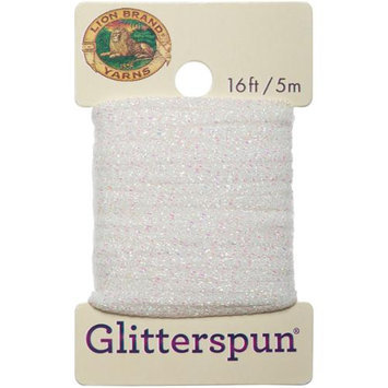 Lion Brand Yarn Company Glitterspun-Crystal White