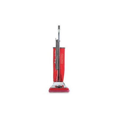 Electrolux Sanitaire Heavy-Duty Commercial Upright Vacuum, 17.5lb, Chrome/Red