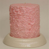 Hearth & Home Traditions 20010 4x4.5 Cake Candle - Strawberry ShortCake