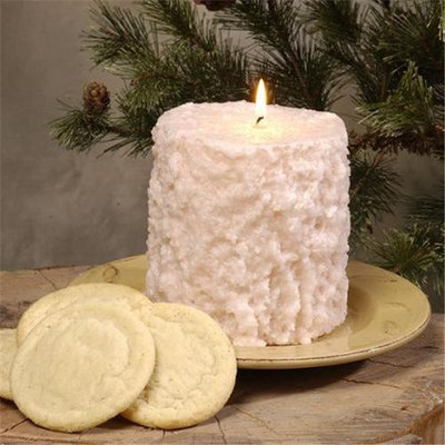 Hearth & Home Traditions 20028 4x4.5 Cake Candle - Sugar Cookie