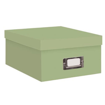 Pioneer Photo Albums Storage Box - Photo, Tape Cartridge - External Dimensions: 4.5 Height x 7.8 Width x 11.0 Depth - Sage Green