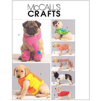 Mccall Pattern Dog Coats, Scarf and Leg Warmers Pattern-All Sizes in One Envelope