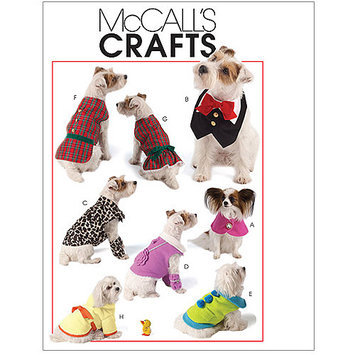Mccall Pattern Pet Clothes Pattern-All Sizes in One Envelope