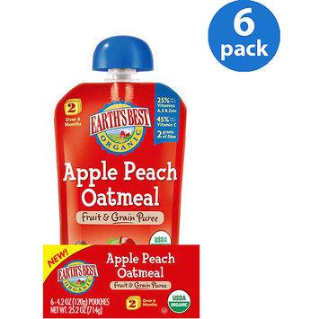 Earths Best Earth's Best 2nd Foods Apple Peach Oatmeal