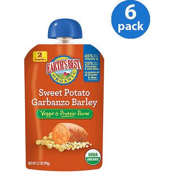 Hain Celestial Earth's Best Vegetable & Protein Puree Sweet Potato Garbanzo Barley