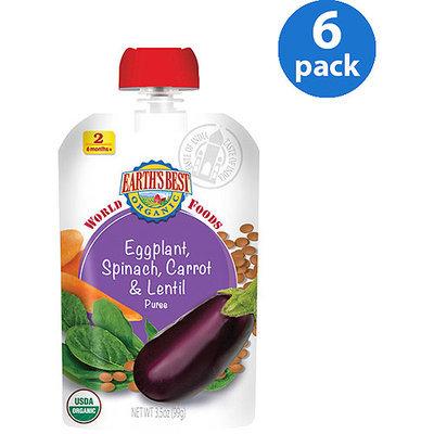 Hain Celestial Earth's Best World Foods Eggplant Spinach Carrot & Lentil - 3.5 ounce