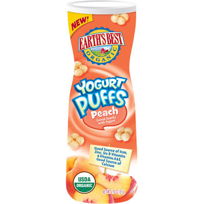 Earths Best Earth's Best Yogurt Puffs Peach Cereal Snacks with Yogurt
