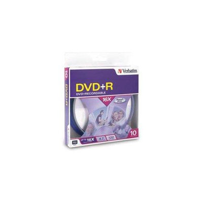 Verbatim 16x DVD+R Media - 4.7GB - 10 Pack