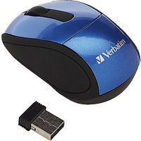 Verbatim WIRELESS MINI TRAVEL MOUSE USB RED PC