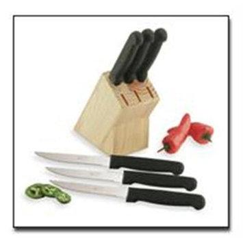 Maxam Diamond Cut 6pc Steak Knives in a sturdy wood block