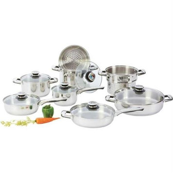 Chef KTS14 Chefs Secret 14pc Heavy-gauge Stainless Steel Cookware Set
