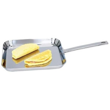 Chefs Secret by Maxam 11 inches Stainless Steel Square Griddle