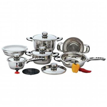 Chef KT12 Chef 12Pc 9Ply Ss Cookware with Trivet