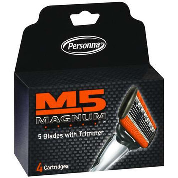 Personna M5 Magnum 4-count Refill Cartridges (Pack of 4)