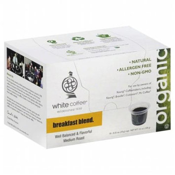 White Coffee Single Serve Coffee Breakfast Blend - 10 K-Cups