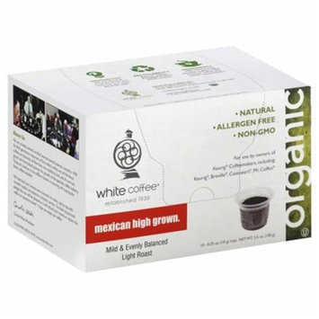 White Coffee Single Serve Coffee Mexican High Grown - 10 K-Cups
