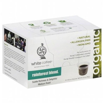 White Coffee Single Serve Coffee Rainforest Blend - 10 K-Cups