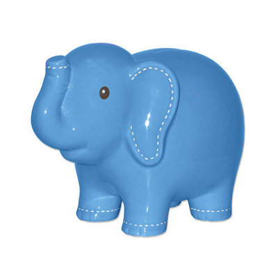 Child to Cherish Large Stitched Elephant Bank, Green