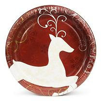 Daily Chef Fancy Reindeer Paper Plates (10.25