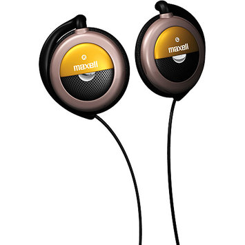 Maxell Deluxe Stereo Ear Clips, 3 Ft Rubber Cord, Black