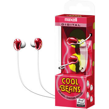 Maxell Cool Beans Ear Buds, Red 190254