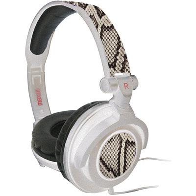Maxell Amplified Heavy Bass Headphones, White Python 190228