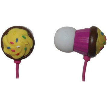 Maxell Chocolate Cupcake with Vanilla Frosting Earbuds - Pink
