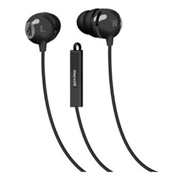 Maxell Classic Earbud With Mic Black - Stereo - Black - Wired - Earbud - Binaural - In-ear (196131)
