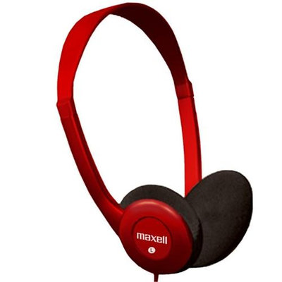 Maxell 196149 Sing Headphones with Built-In Microphone, Red