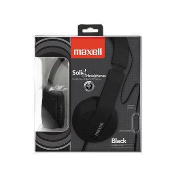 Maxell Solid 2 Black Headphones - Stereo - Black - Mini-phone - Wired - Over-the-head - Binaural - Circumaural (max-290103)