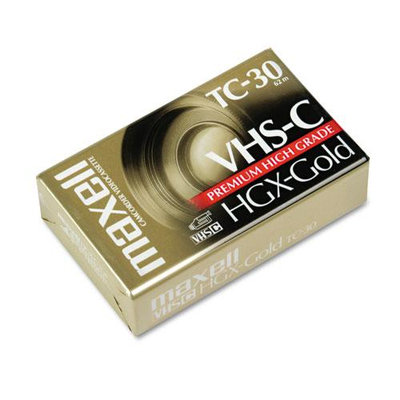 Maxell VHS C Video Cassette, High Grade, 30 Minute
