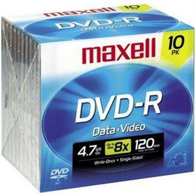 Maxell 635040/635045/638004 4.7GB Dvd-R 10 Pack