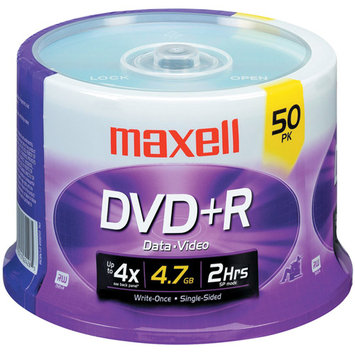 Maxell DVD+R 16X Recordable Media 50 Pack Spindle