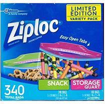 Ziploc Back to School Storage/Quart/Snack Mix Pack Bags