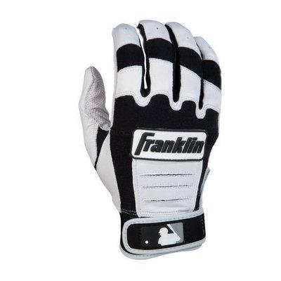 Franklin Sports 10560F2 CFX Pro Youth Medium Batting Gloves in Pearl/Black