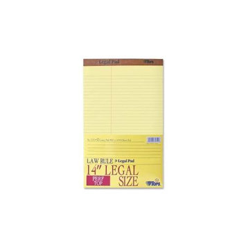 Tops Business Forms Pad, Perf Top, Lgl, Law Ruled,50 Sheet,8-1/2