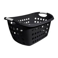 Home Logic 1.8Bush Blk Laun Basket 213475 by HMS