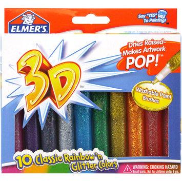 Elmers E199 10 Count Washable 3D Glitter Paint Pens