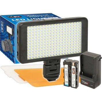 Vidpro LED-230 Ultra-Slim Video Light with 2 Diffusers, Battery & Charger
