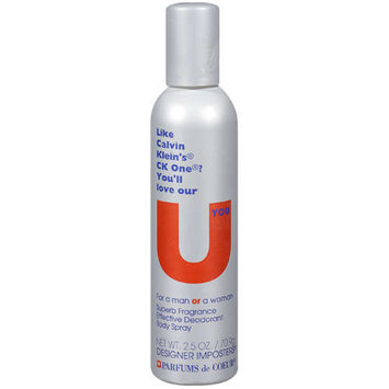 Designer Imposters U-you Fragrance Body Spray - Imposter Of Ck One