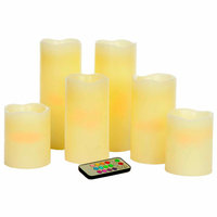 Teters Floral Products Pillar Candles/ Remote (Set of 6)