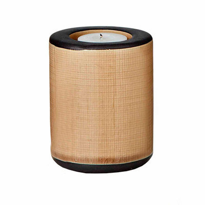 Teters Floral Products Tan Cylindrical Ceramic Round Candle Holder (Pack of 6)