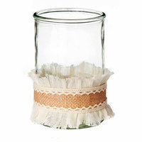 Teters Floral Products 4-inch x 6-inch Burlap Vase Candle Holder (Pack of 8)