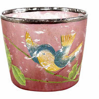 Teters Floral Products 2.5-inch x 3-inch Bird Painted Votive Holder (Pack of 6)